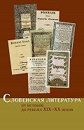 Коллектив Авторов - Словенская литература. От истоков до рубежа XIX–XX веков