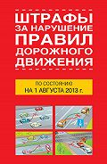 Т.П. Тимошина -Штрафы за нарушение правил дорожного движения по состоянию на 01 августа 2013 года