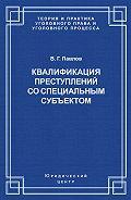 Владимир Павлов - Квалификация преступления со специальным субъектом