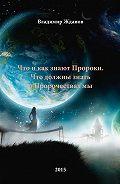 Владимир Жданов - Что и как знают Пророки. Что должны знать о пророчествах мы
