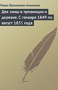 Павел Анненков - Две зимы в провинции и деревне. С генваря 1849 по август 1851 года
