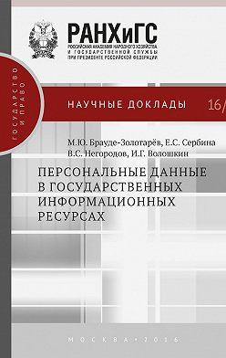 Михаил Брауде-Золотарев - Персональные данные в государственных информационных ресурсах