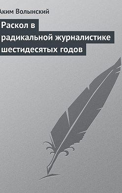 Аким Волынский - Раскол в радикальной журналистике шестидесятых годов