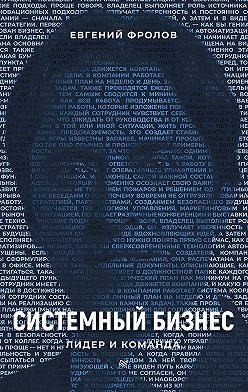 Евгений Фролов - Системный бизнес. Лидер и команда