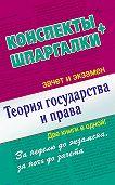Андрей Петренко -Теория государства и права. Конспекты + Шпаргалки. Две книги в одной!