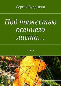 Сергей Бурдыгин -Под тяжестью осеннего листа… Стихи