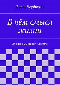 Борис Чорбаджи - Вчём смысл жизни