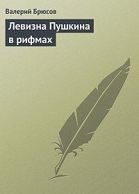 Валерий Брюсов -Левизна Пушкина врифмах