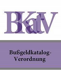 Deutschland - Bußgeldkatalog-Verordnung – BKatV