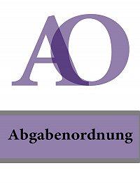 Deutschland -Abgabenordnung – AO