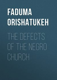 Orishatukeh Faduma -The Defects of the Negro Church