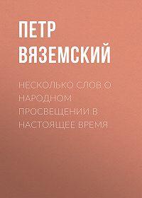 Петр Андреевич Вяземский -Несколько слов о народном просвещении в настоящее время