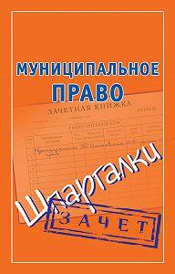 Наталья Ольшевская - Муниципальное право. Шпаргалки