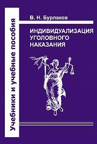 Владимир Бурлаков -Индивидуализация уголовного наказания. Закон, теория, судебная практика