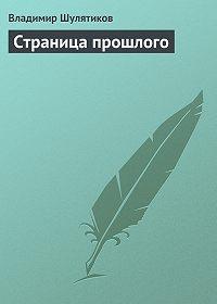 Владимир Шулятиков - Страница прошлого