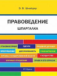 Э. Шнайдер - Правоведение. Шпаргалка. Учебное пособие