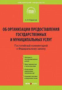 А. Н. Борисов -Комментарий к Федеральному закону от 27 июля 2010 г. №210-ФЗ «Об организации предоставления государственных и муниципальных услуг» (постатейный)
