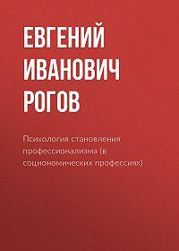 Евгений Рогов -Психология становления профессионализма (в социономических профессиях)