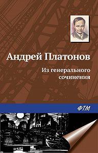 Андрей Платонов -Из генерального сочинения (сборник)