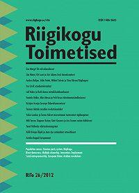 Кomposiit autorid -Riigikogu Toimetised 26