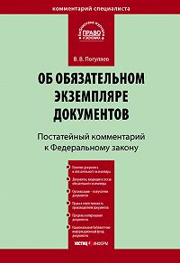 В. В. Погуляев - Комментарий к Федеральному закону «Об обязательном экземпляре документов» (постатейный)