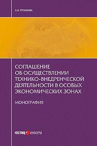 Елизавета Громова -Соглашение об осуществлении технико-внедренческой деятельности в особых экономических зонах