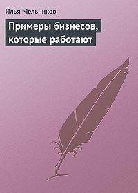 Илья Мельников -Примеры бизнесов, которые работают