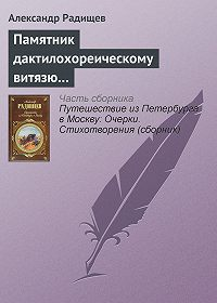 Александр Радищев -Памятник дактилохореическому витязю…