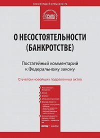 Коллектив Авторов -Комментарий к Федеральному закону от 26 октября 2002 г. №127-ФЗ «О несостоятельности (банкротстве)» (постатейный)